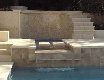 Lazar waterfall & stairs