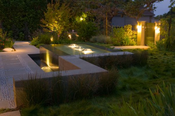 Cape Cod Style Residence Fountain